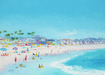 Pacific Beach In San Diego Art Print