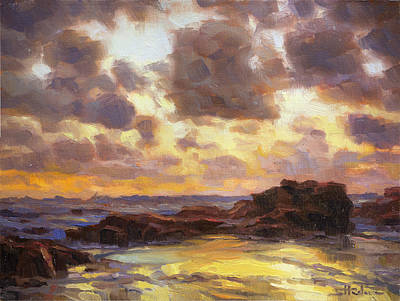 Copper Painting - Pacific Clouds by Steve Henderson