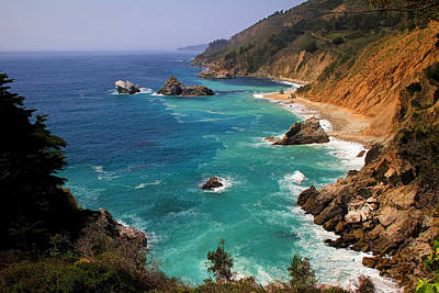 Big Sur Photograph - Pacific Coast Blues by Donna Kennedy