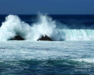 Photograph - Pacific Coast Double Spray Photograph by Kristen Fox