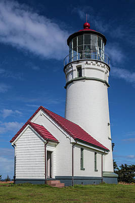 Photograph - Pacific Coastal Lighthouse by Debra and Dave Vanderlaan
