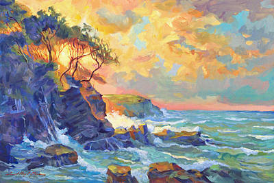 Pink Painting - Pacific Dawn by David Lloyd Glover