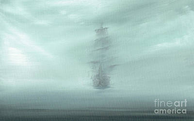 Lost At Sea Painting - Pacific Dawn by Vincent Alexander Booth