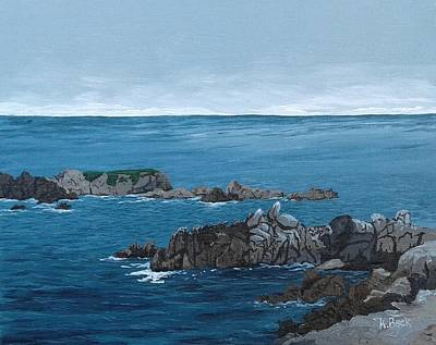 Painting - Pacific Grove Seashore by Katherine Young-Beck