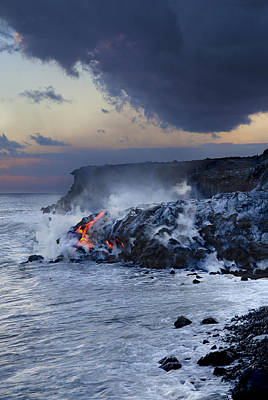 Pacific Lava Flow Art Print by Dave Fleetham - Printscapes