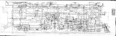 Pacific Locomotive Diagram Art Print