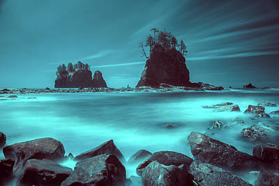 Photograph - Pacific Moody Sea Stacks by William Lee