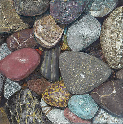 Painting - Pacific Nw Beach Rocks by Nick Payne