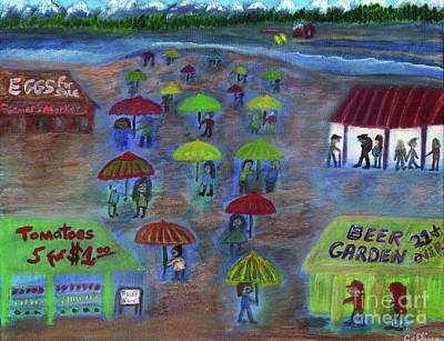 Painting - Pacific Northwest Farmer's Market by Carol Eliassen