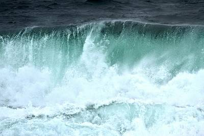 Photograph - Pacific Ocean Wave Curl by Adam Jewell