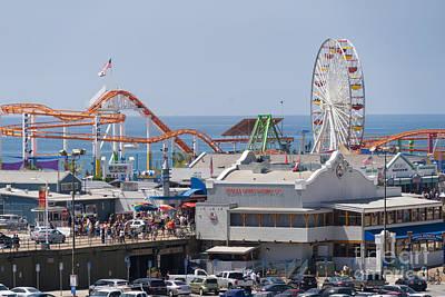 Photograph - Pacific Park At Santa Monica Pier In Santa Monica California Dsc3648 by Wingsdomain Art and Photography