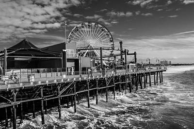 Photograph - Pacific Park Bw by Robert Hebert
