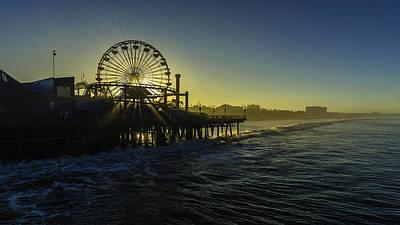 Photograph - Pacific Park Ferris Wheel by Brad Wenskoski