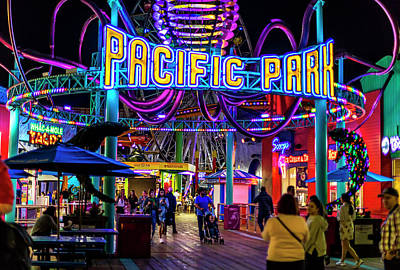 Photograph - Pacific Park - On The Pier by Gene Parks