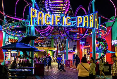 Pacific Park - On The Pier Art Print