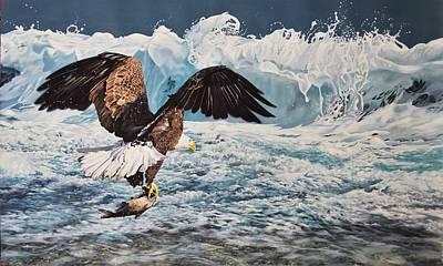 Wall Art - Painting - Pacific Rim Bald Eagle by Julian Wheat