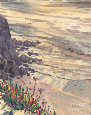 Sunset California Coast Painting - Pacific Shorbirds by Donald Maier