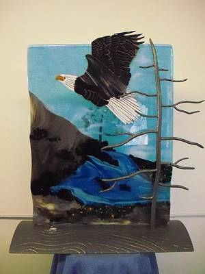 Fused Glass Mixed Media - Pacific Spirit by Rob Harder