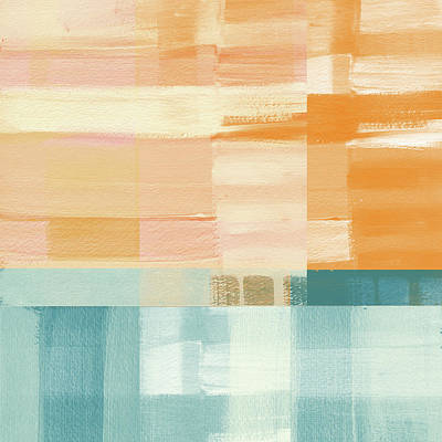 Pacific Sunset- Abstract Art By Linda Woods Print by Linda Woods