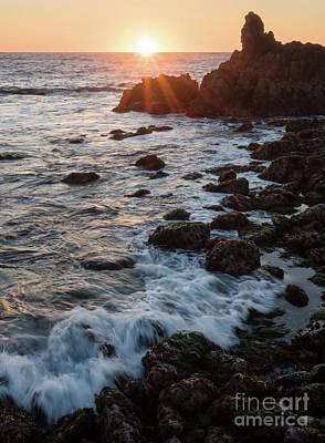 Photograph - Pacific Sunset, Asilomar State Beach, Pacific Grove Ca #10030 by John Bald