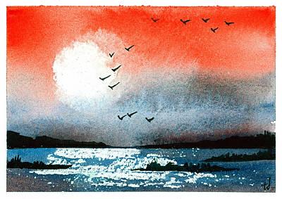 Pacific Sunset V Art Print