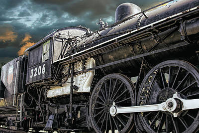 Photograph - Pacific Type Steam Locomotive by Daniel Hagerman