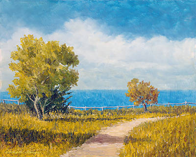 Painting - Pacific View Rancho Palos Verdes by Douglas Castleman