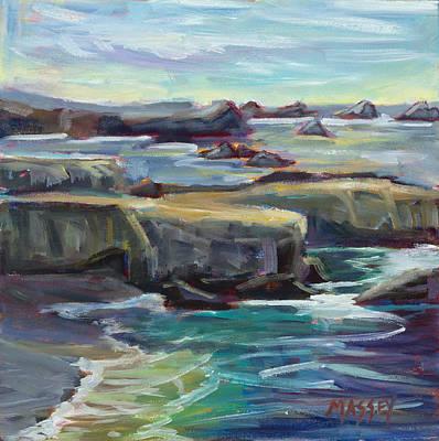 Pacific Waters, Plein Air Original by Marie Massey