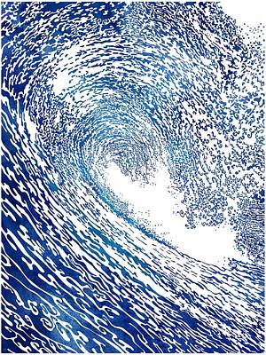 Mixed Media - Pacific Waves Iv by Stevyn Llewellyn