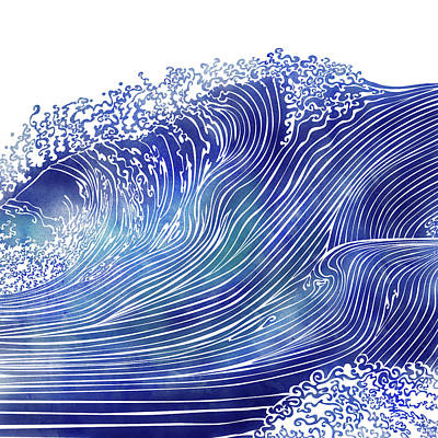 Waves Mixed Media - Pacific Waves by Stevyn Llewellyn