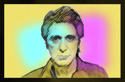Al Pacino Drawing - Pacino Sketch  by Enki Art