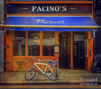 Art Print featuring the photograph Pacino's Garda Bicycle by Craig J Satterlee