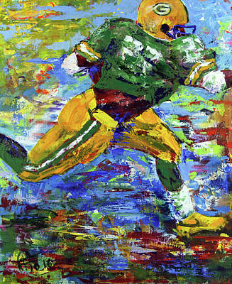 Painting - Paeddie Lacy Running For Td  by Walter Fahmy