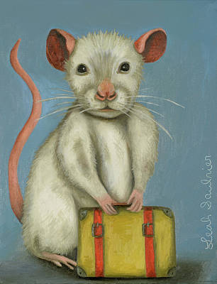 Rat Pack Painting - Pack Rat 2 by Leah Saulnier The Painting Maniac