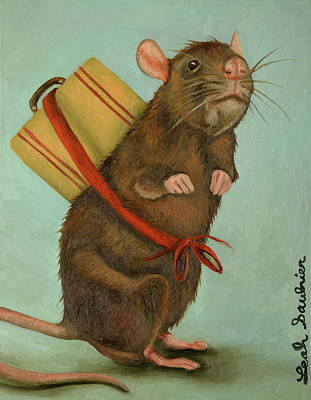 Rat Pack Painting - Pack Rat by Leah Saulnier The Painting Maniac