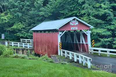 Photograph - Pack Saddle Covered Bridge by Adam Jewell