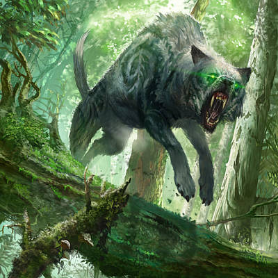 Digital Art - Pack Wolf by Ryan Barger