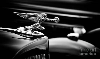 Goddess Of Speed Hood Ornament Art Print by Tim Gainey