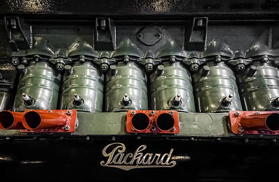 Photograph - Packard Airplane Engine by Mark Holcomb