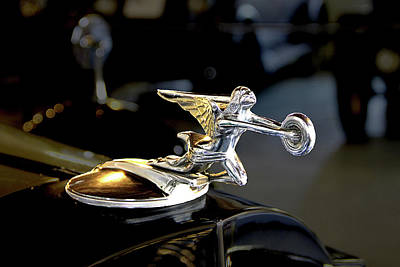Photograph - Packard Angel At The Marshall Steam Museum by Susan Hendrich