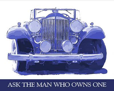 Digital Art - Packard Ask The Man Blue by David King