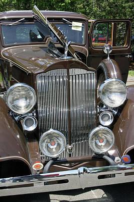 Photograph - Packard Club Sedan Hood by Gerald Mitchell