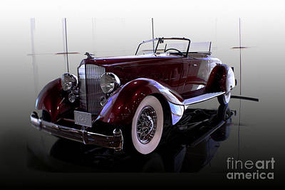 Photograph - Packard Convertable by Curt Johnson