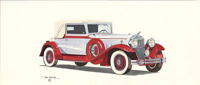 Packard Coupe Roadster 1932 Art Print by John Kinsley