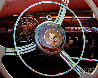 Photograph - Packard Darrin Dash by Dennis Hedberg