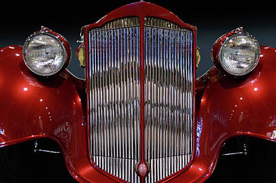 Photograph - Packard Grille by Bill Dutting