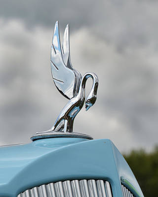 Photograph - Packard Hood Ornament by Ann Bridges