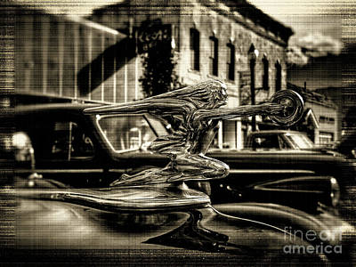 Photograph - Packard Hood Ornament by Tony Baca