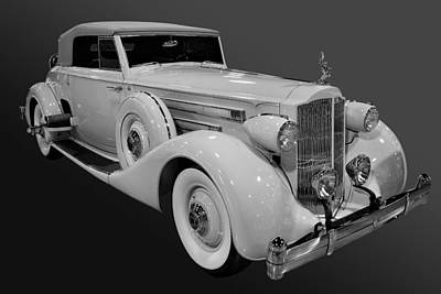 Photograph - Packard In Bw by Bill Dutting