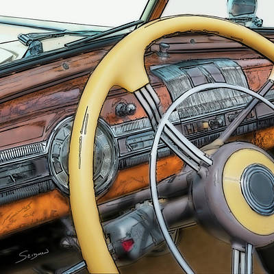 Digital Art - Packard by Irwin Seidman